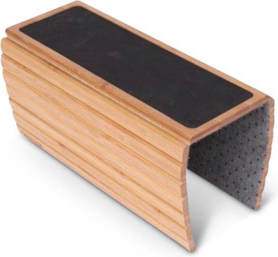 SmartLife Armleuning dienblad XL - Flexibel dienblad bank leuning - Luxe bamboe hout - Anti slip - Beschermde coating - Rechthoek