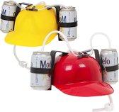 MikaMax Bier Helm - Verkleedhoofddeksel - Bier Accessoires - Grappige Cadeaus Volwassen