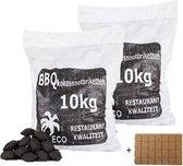 Kokosbriket Prodica Holland 2x10kg + gratis aanmaakblokjes