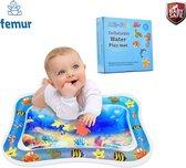 Femur®️ Originele Baby Waterspeelmat – Speelkleed – Aquamat – Watermat – Speelmat – Babytrainer - Babygym - Kraamcadeau – Ideaal cadeau voor babyshower – Luxe geschenkdoos