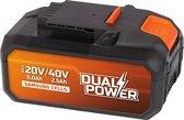 Powerplus Dual Power POWDP9037 Accu - 40V - 2,5 Ah - Samsung Li-ion