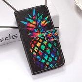 Let op type!! Kleurrijke ananas patroon gekleurde tekening horizontale Flip lederen case voor Huawei mate 20 X  met houder & card slots & portemonnee & Lanyard