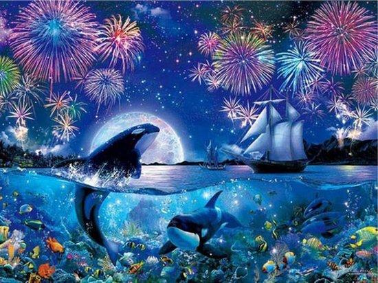 Diamond Painting Dolfijnen - #9 - 50 x 60 cm - Maak de Mooiste Schilderijen Helemaal Zelf