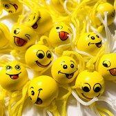 50 stuks Gelukspoppetje Emoticons hout uitdeelcadeaus geluksbrenger