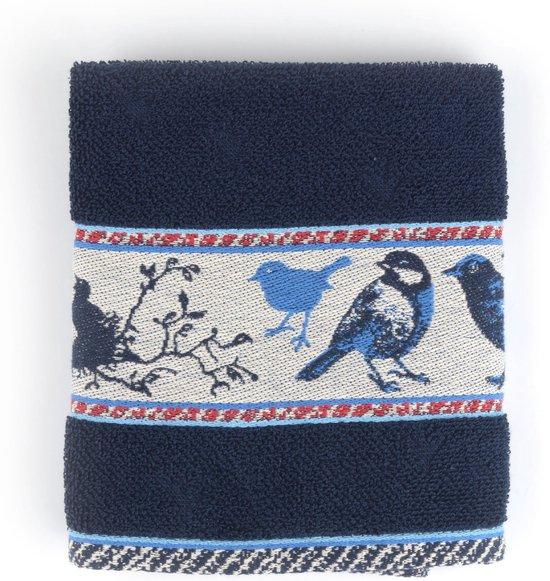 Keukendoek Bunzlau Castle Birds 53x60cm, blauw - 6 pack