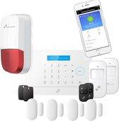 NIVIAN DRAADLOOS ALARM WIFI GSM met Tuya app, Alexa en Google Assistant. Alarmsysteem zonder abonnement - Volledige huisbeveiliging