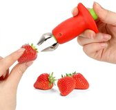 Aardbei ontkroner - aardbeien / tomaten ontkroner - Rood - Tomaat ontkroner - Aardbei steel verwijderaar - Universeel