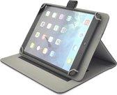 Universele tablet-laptop hoes Zwart tot 10.1 inch Book Case - Magneetsluiting - Verschillende horizontale standen - Vegan leder