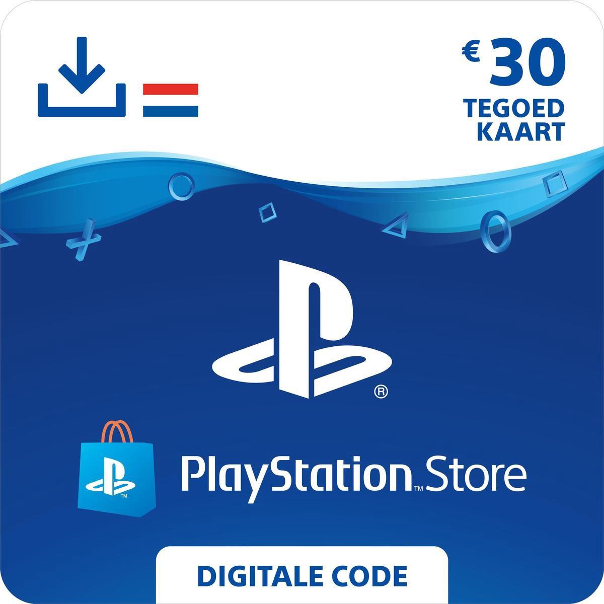30 euro PlayStation Store tegoed - PSN Playstation Network Kaart (NL)