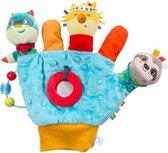 Imaginarium MANO-MARIONET BLUE - Handschoen om met Baby  te Spelen - Blauwe Speelhandschoen met Spiegeltje