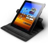 """Samsung Galaxy Tab 1 en 2 10.1"""" Luxe Lederen Hoes - Auto Wake Functie - Meerdere standen - Case - Cover - Hoes - Zwart"""
