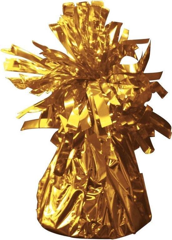 Set van 8x stuks ballon gewichtjes goud 170 gram - Ballon gewichten voor helium ballonnen