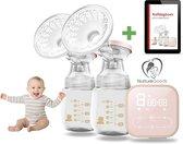 NurtureGoods® Dubbele Elektrische Borstkolf - 2020 Luxe comfort Kolfset  - 180ml babyfles (2x) - borstpomp - borstvoeding - siliconen kolf apparaat BPA-vrij - Incl. NurtureGoods Kolfdagboek en Speen