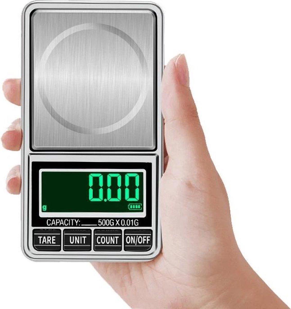 Best Berry  Professionele Precisie Weegschaal Digitaal - 0.01 > 500 gram - Mini Keukenweegschaal - M