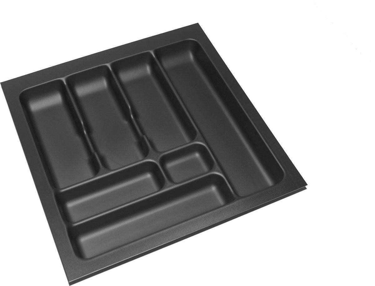 Culinorm Storex Bestekbak - Besteklade 49 cm breed x 49 cm diep - Carbon Black