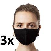 Face Mask - Set van 3 - Wasbaar - Mondmasker - Gezichtsmasker - Mondkap - Maat S/M