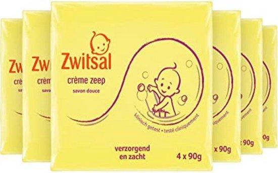 Zwitsal Zeep Crème - 8 Pakken van  4 x  90 Gram - Voordeelverpakking - 32 Stuks a 90 Gram