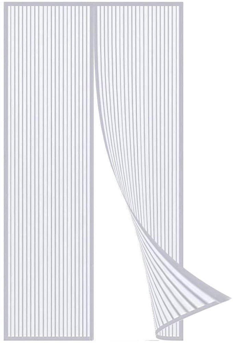 ForDig Luxe Deurhor Magnetisch - Horgordijn – Vliegengordijn – Hordeur - 210 x 100 - Wit