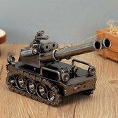 Tank Beeldje Huis Decoratie - Decoratie Woonkamer - Decoratie - Brons