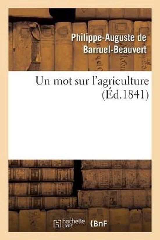 Un mot sur l'agriculture
