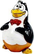 Tuinsteker Pinguin tuindecoratie handgemaakt winterhard keramiek uit Litouwen