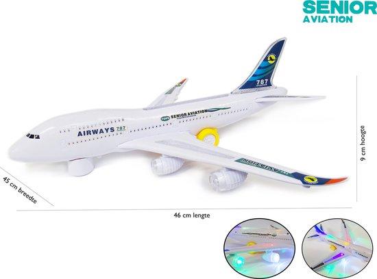 Afbeelding van Airbus speelgoed vliegtuig -Senior Aviation Airways 787 Dreamliner - met led licht + geluid en kan bewegen 46CM speelgoed