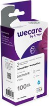 weCare Cartridge Lexmark 100 XL Blauw Combipack