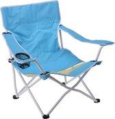 Redcliffs Campingstoel 78x54x68 Cm Rvs Blauw