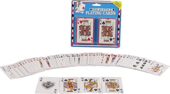 Afbeelding van het spel 2-play Speelkaarten Vegas Style 9,5 X 6 Cm Karton 2 Sets