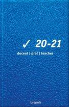 Brepols Lerarenagenda 2020-2021 • Clear • Blauw • 9 x 16 cm