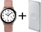 Samsung Galaxy Watch Active2 - Stainless steel - 40mm - Goud/Roze