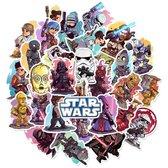 Star Wars Stickers - 50 st - Voor Kinderen - Voor op Laptop Mobiel Skateboard etc - Mandalorian Star Wars Merch