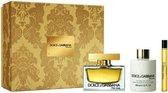 Dolce & Gabbana The One Giftset - 75 ml eau de parfum spray + 10 ml tasspray + 100 ml bodylotion