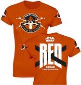 STAR WARS 7 - T-Shirt Red Squad GIRLS - Orange (S)