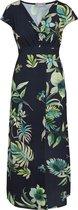 Cassis Lange jurk met tropische print Dames Jurk Maat EU46