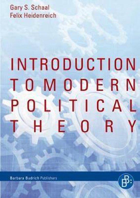 Boek cover Introduction to Modern Political Theory van Dr. Felix Heidenreich (Paperback)
