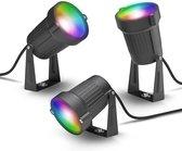 Innr slimme buitenverlichting - Werkt met Philips Hue* - Smart LED spot color outdoor - Zigbee - kit met 3 spots