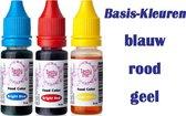 Tasty Me - Garnering - Voedingskleurstof - Rood/Blauw/Geel