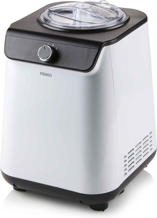 Primo PR401IM - roomijsmachine met compressor - wit/zwart