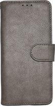 Samsung Galaxy A41 Hoesje Grijs - Hoge Kwaliteit Portemonnee Book Case
