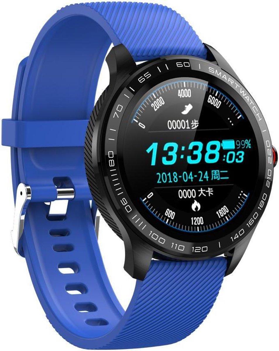Belesy®  - BL218SI - Smartwatch - Blauw kopen