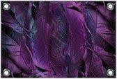 Tuinposter –Paarse Veren– 60x40 Foto op Tuinposter (wanddecoratie voor buiten en binnen)