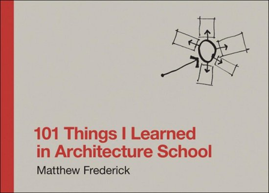 Boek cover 101 Things I Learned in Architecture School van Matthew Frederick (Hardcover)