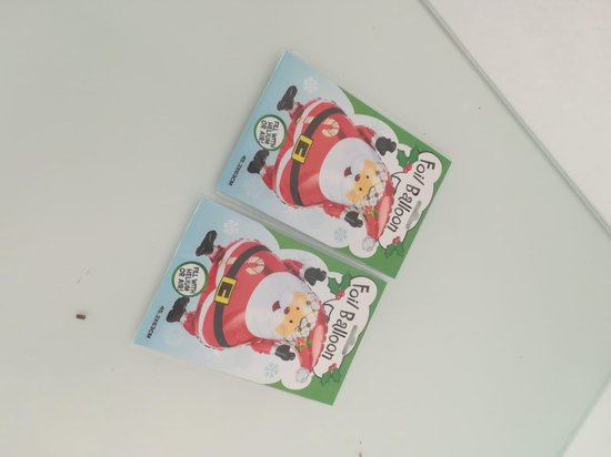 ballon - 2 stuks - kerstman vorm