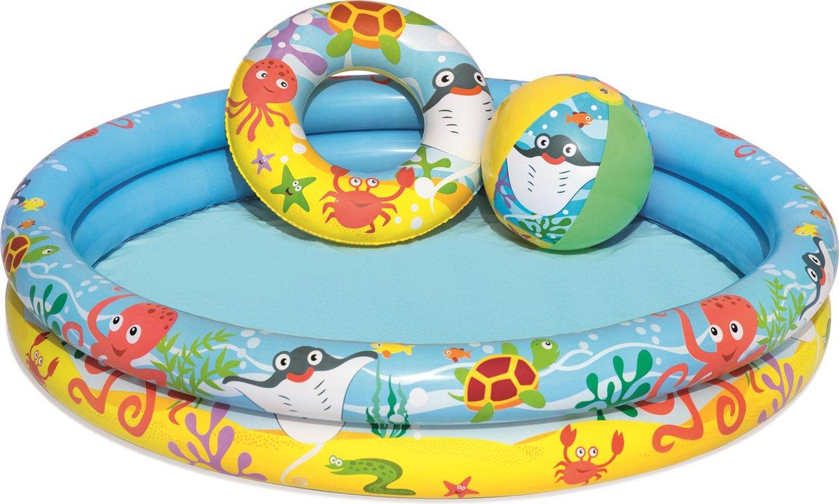 Bestway Kinderbad rond play pool set 112