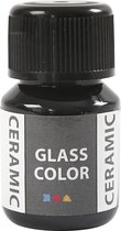 Creotime Keramiekverf Glass Color 30 Ml Zwart