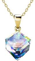 Yolora dames ketting met Kalpa Camaka kristal - 18K Geelgoud vergulde ketting - YO-N083-YG-AB