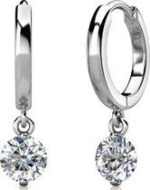 Yolora dames oorbellen met Swarovski Kristal - 18K witgoud vergulde oorbellen - 925 sterling silver - YO-E082-WG-CC