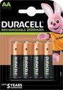 Duracell Rechargeable AA 2500mAh batterijen, verpakking van 4