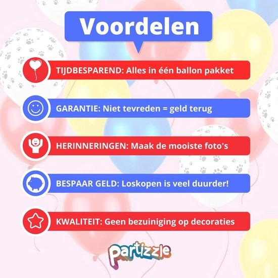 Partizzle® 40x Paw Patrol Verjaardag Versiering Confetti Latex Ballonnen - Ballon Feestje - Helium